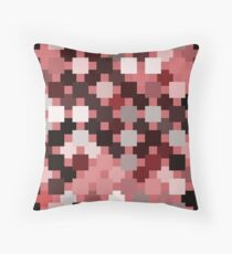 red square pattern Throw Pillow