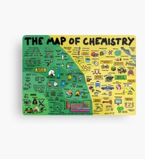 The Map of Chemistry Metal Print