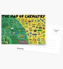 Die Karte der Chemie Postkarten