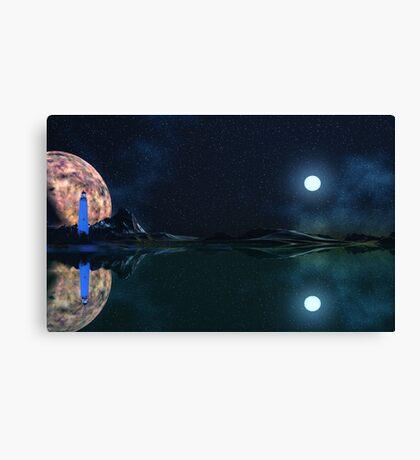 Blue Light - Anishnabe Prime. Canvas Print
