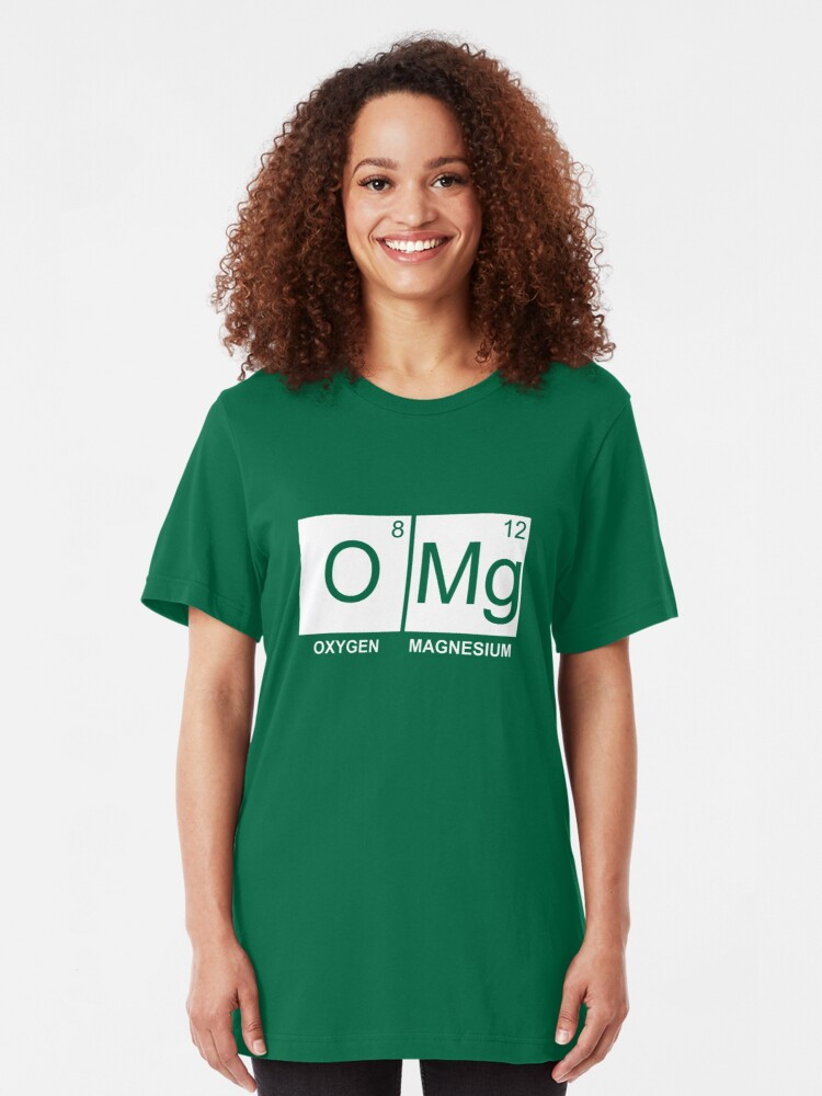 Alternate view of O-Mg - Oxygen Magnesium Slim Fit T-Shirt