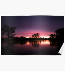 A Flooded Sunset  Poster