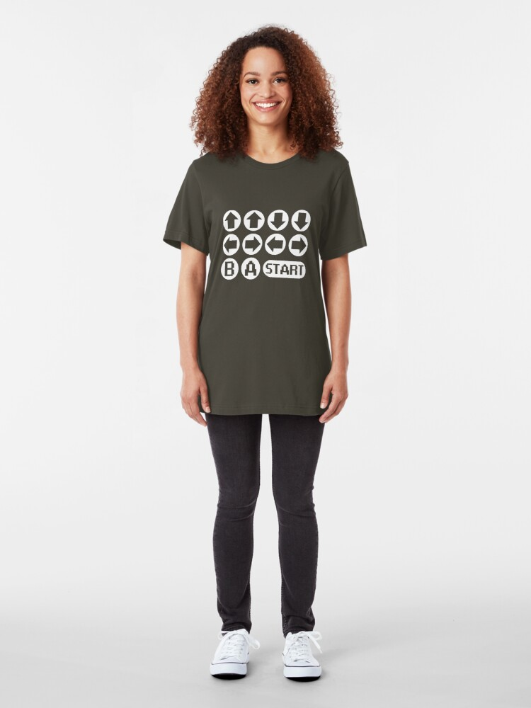 Alternate view of The Konami Code Slim Fit T-Shirt
