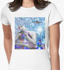 Cosmic Hitchhiker Womens Fitted T-Shirt