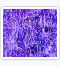 Violet Iris and Butterfly Sticker