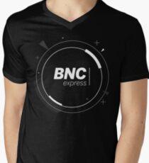 BNCexpress - Space Logo Men's V-Neck T-Shirt
