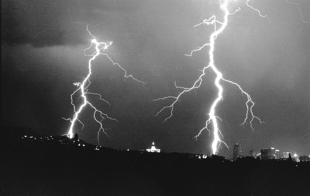 Lightning strikes  by Justin Keller