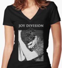 unknown pleasures (Joy division ian curtis) Women's Fitted V-Neck T-Shirt