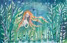 Shy Mermaid by meloearth