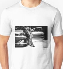 Car and Legs Unisex T-Shirt
