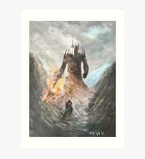 Melkor vs Fingolfin Epic Battle by Naci Caba Art Print