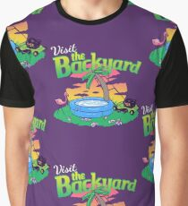 Backyard Vacation Graphic T-Shirt