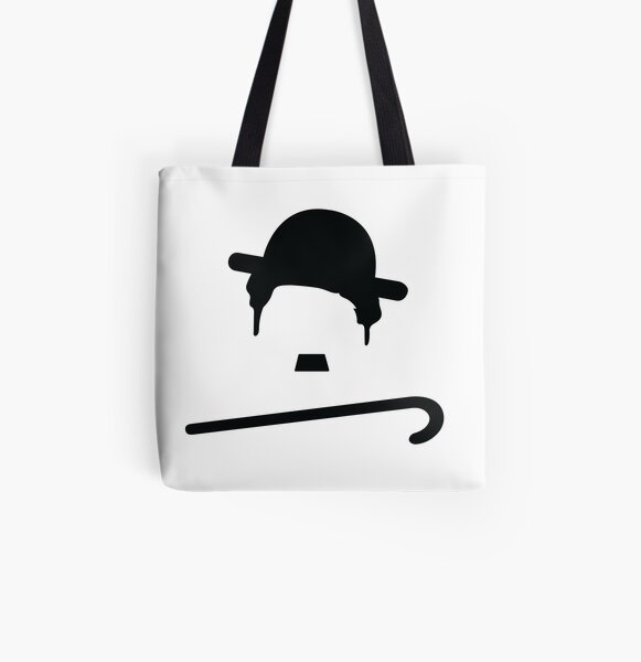 Chaplin with Cane All Over Print Tote Bag