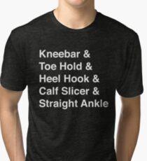 BJJ Leg Lock Helvetica List Tri-blend T-Shirt