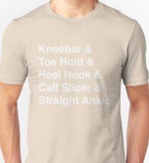 BJJ Leg Lock Helvetica List Unisex T-Shirt