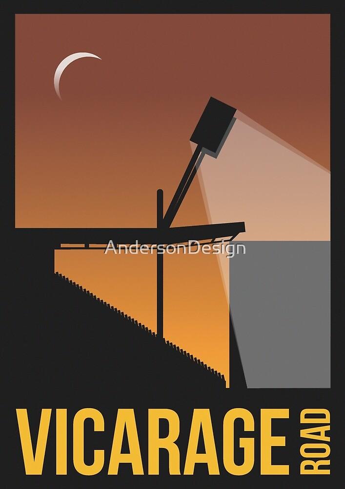 Stadium Art - Vicarage Road Silhouette by AndersonDesign