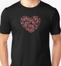 The Bike Heart - Red Bicycles Unisex T-Shirt