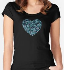 The Bike Heart - Blue Tone Bicycles Women's Fitted Scoop T-Shirt