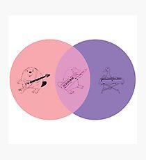 Keytar Platypus Venn Diagram - Pink Photographic Print