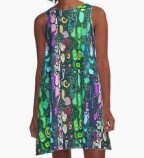 Abstract ornament free hand drawing  A-Line Dress