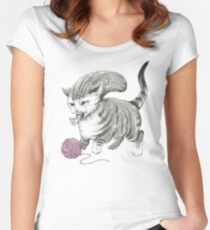 Kittehmorph Women's Fitted Scoop T-Shirt