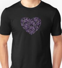 The Bike Heart - Purple Tones Bicycles Unisex T-Shirt