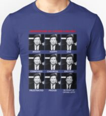 The Expressions of Tucker Carlson Unisex T-Shirt