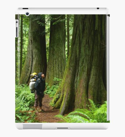Meeting with a forest giant iPad Case/Skin