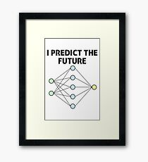 Neural Network Machine Learning: Predict The Future! Framed Print