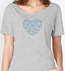 The Bike Heart - Blue and Orange Bicycles Women's Relaxed Fit T-Shirt