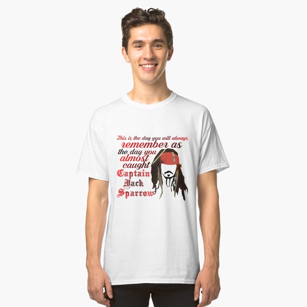 Captain Jack Sparrow Classic T-Shirt Front