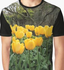 Happiness Is Yellow Tulips Graphic T-Shirt
