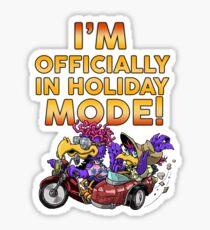 """HOLIDAY MODE"" Sticker"