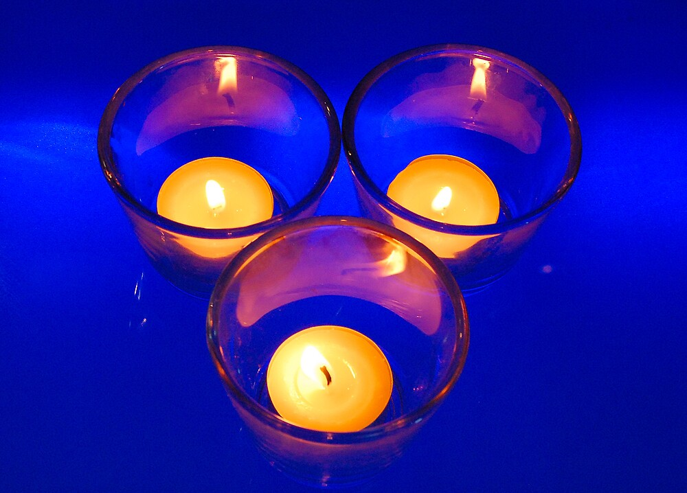 Blue Candles by Cynde143