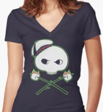 Jolly Puft Women's Fitted V-Neck T-Shirt