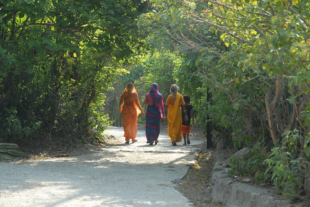 Women Walking In Light by Shakti Hurst