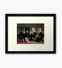 The Peacemakers -- Civil War Union Leaders Framed Art Print