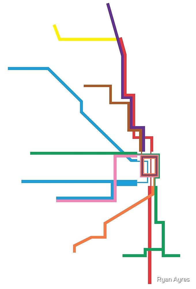 Chicago Transit Map by Ryan Ayres