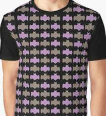 Geometric Circle Bat Cave Graphic T-Shirt