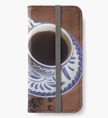Delicate Coffee Cup with Beans iPhone Wallet/Case/Skin