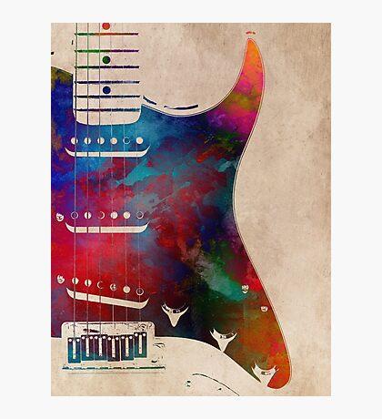 guitar art 1 Photographic Print