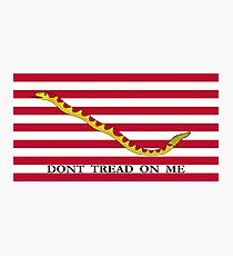 Don't Tread On Me -- First Navy Jack Photographic Print