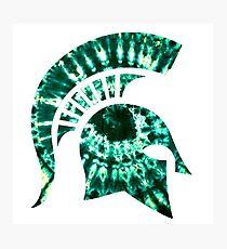 Michigan State Tie Dye Photographic Print
