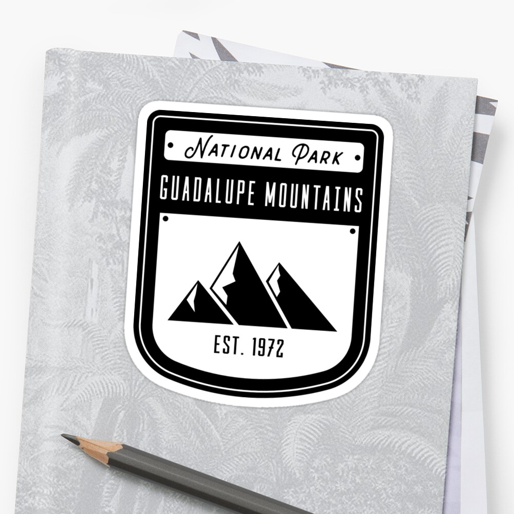 Guadalupe Mountains National Park Texas Badge Design by nationalparks