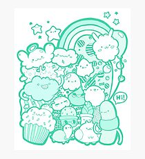 Cute Rainbow Doodle Photographic Print