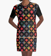 Vintage Record Pack Graphic T-Shirt Dress