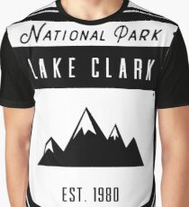 Lake Clark Alaska National Park Badge Design Graphic T-Shirt