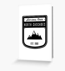 North Cascades National Park Washington Badge Design  Greeting Card
