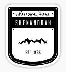 Shenandoah National Park  Virginia Badge Design Sticker