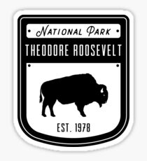 Theodore Roosevelt National Park North Dakota Badge Design Sticker